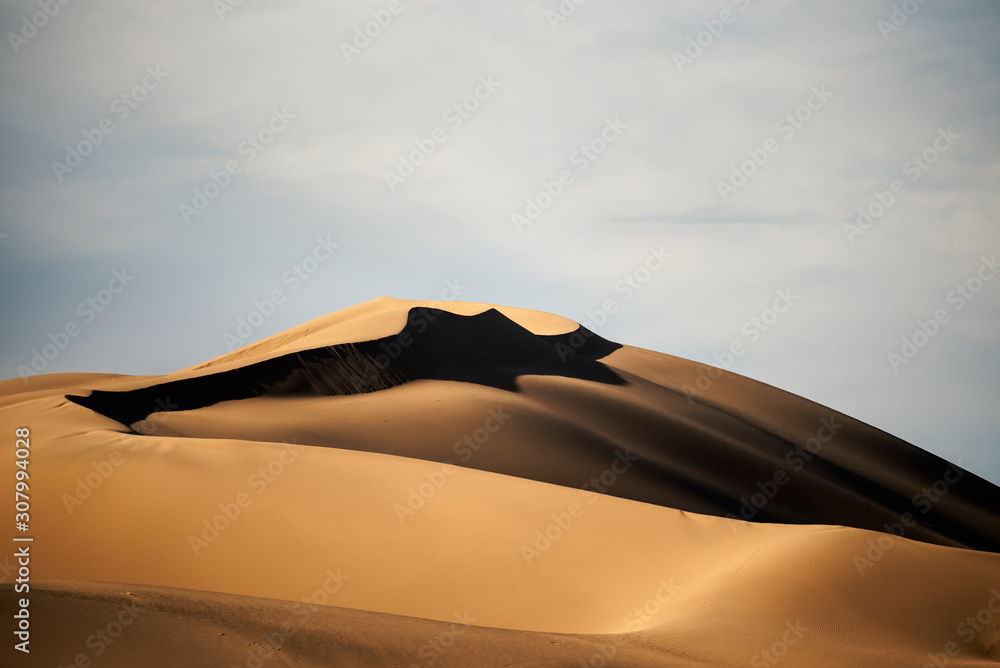 cloudy sky in the lut desert