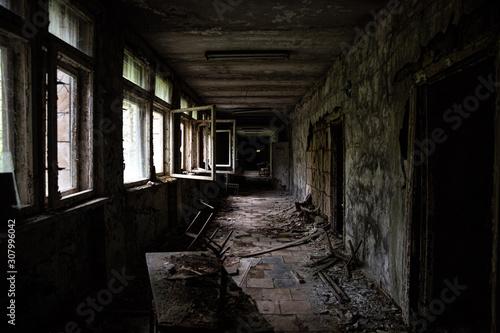 Abandoned building in Prypiat, Chernobyl Wallpaper Mural