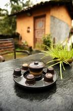朝露と茶道具