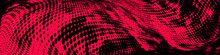 Abstract Monochrome Red Black Grunge Halftone Pattern