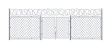 Metal Fence With Gate Or Chain...