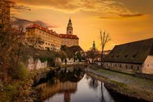 Krumlov Castle In The Historic...