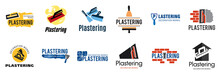 Vector Set Of Plastering Finishing Company Logos