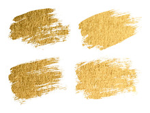 Gold Paint Smear Stroke Stain ...