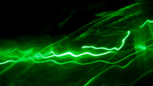 LED,Drawing Lines Of Green Light In Various Shapes
