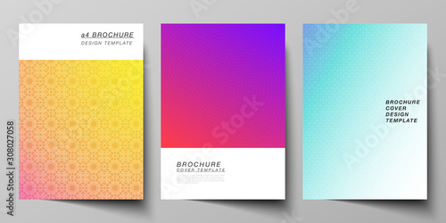 The Vector Layout Of A4 Format Modern Cover Mockups Design