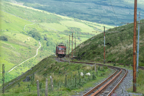Fotomural The Snaefell Mountain Railway is an electric mountain railway on the Isle of Man