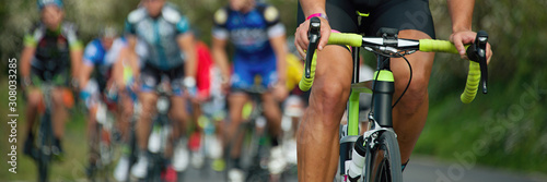 Cycling competition, cyclist athletes riding a race Wallpaper Mural