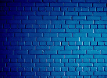 Blue Metallic Painted Brick Wall Abstract Background Texture