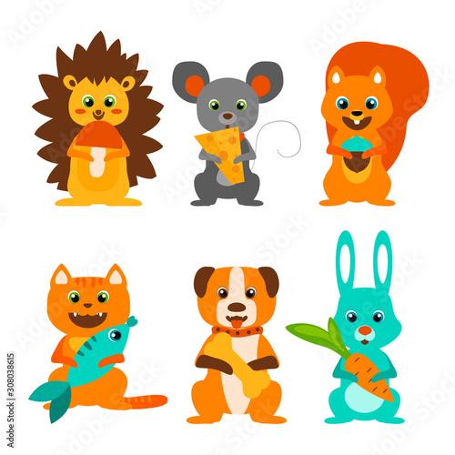 Cut animals set #308038615