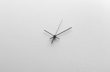 Clock Hands On A Blank Dial Wi...