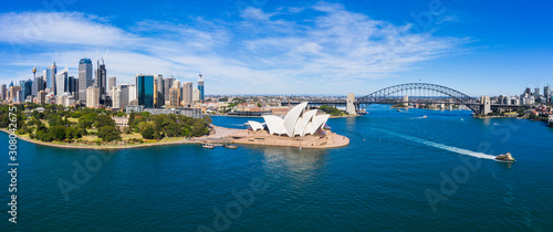 Photo Aerial View of Sydney, Australia. Drone shot. Panorama.
