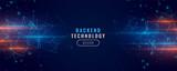 digital backend technology concept particle background design