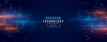 Digital Backend Technology Concept Particle Background Design