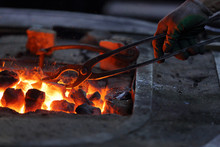 Hot Coals In A Furnace For Hea...