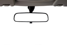 Car Rear View Mirror Isolated ...
