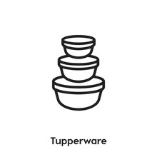 Tupperwares Icon Vector. Tuppe...