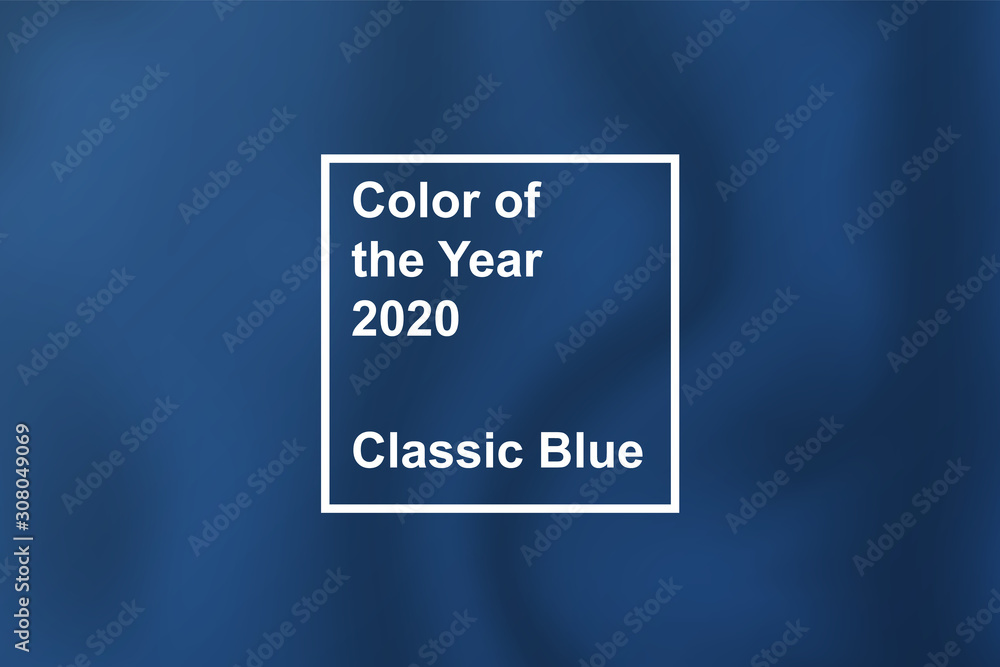 Fototapeta textile cloth coloring in trend classic blue color of the year 2020 for fashion, home, interiors design, stock vector illustration clip art background