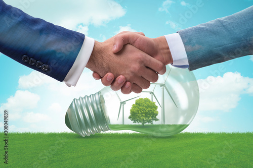 Paris agreement concept in ecology and environment Canvas Print