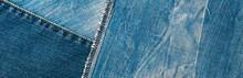 Blue Denim Texture. Background...