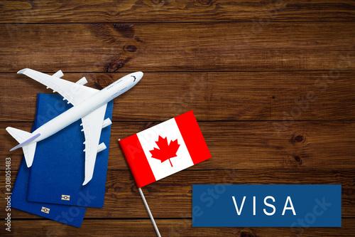 Visa to Canada concept Canvas Print