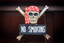 Wooden No Smoking Board With R...
