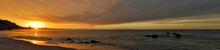 Panorama Of Daybreak Along Pacific Coast Highway North Of Santa Monica