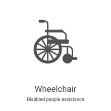Wheelchair Icon Vector From Di...