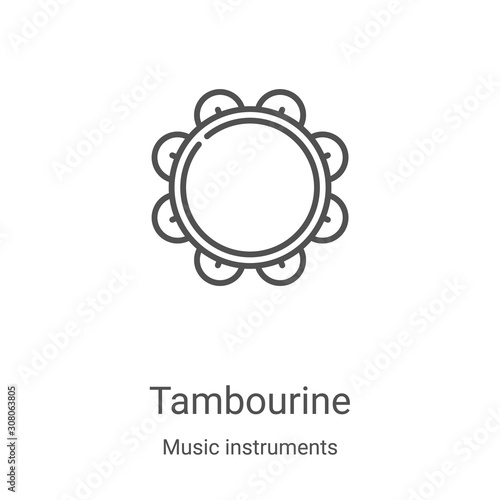 Obraz na płótnie tambourine icon vector from music instruments collection