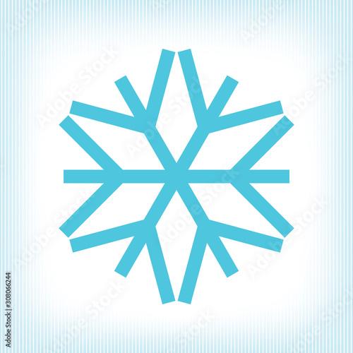 Fototapeta Winter Holidays Snowflake Icon Style New Year or Christmas Template obraz na płótnie