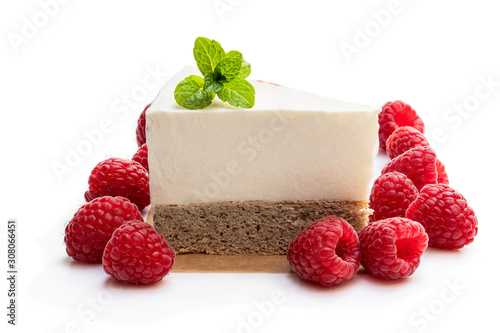 Diabetes approved no sugar cheese cake made from stevia and berry Canvas Print