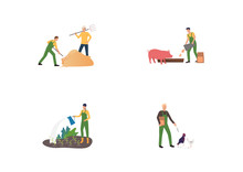 Farming And Horticulture Set. ...