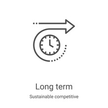 Long Term Icon Vector From Sus...