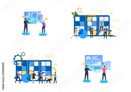 Planning and VR presentation set Wallpaper Mural