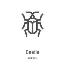 Beetle Icon Vector From Wildli...