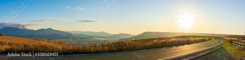 阿蘇山 阿蘇大観峰ミルクロードからの夕焼け風景  Aso Sunset view from Aso Daikanbo Milk Road Canvas-taulu