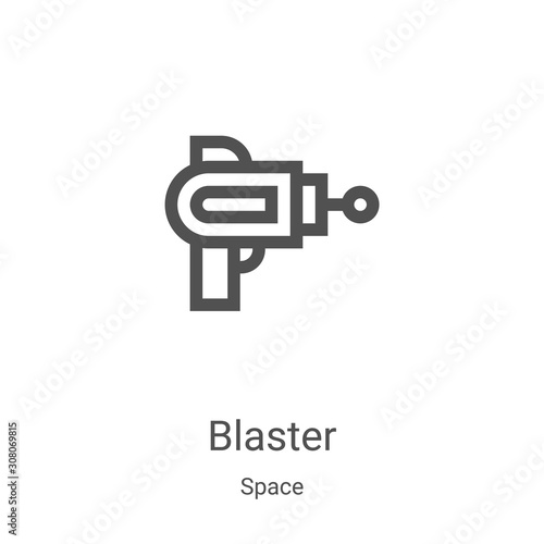 blaster icon vector from space collection Wallpaper Mural