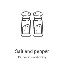 Salt And Pepper Icon Vector Fr...