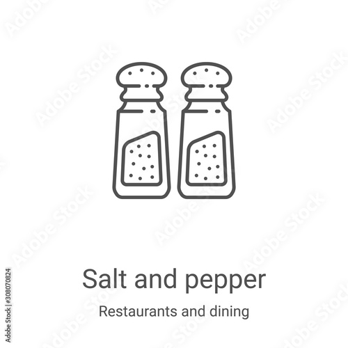 salt and pepper icon vector from restaurants and dining collection Wallpaper Mural