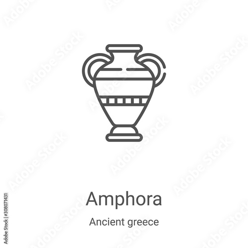 Photo amphora icon vector from ancient greece collection