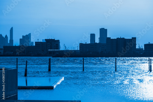 View of the buildings in Abu Dhabi, on the shores of the Persian Gulf Canvas Print