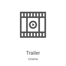 Trailer Icon Vector From Cinem...