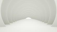 3D Illuminated Corridor Interi...