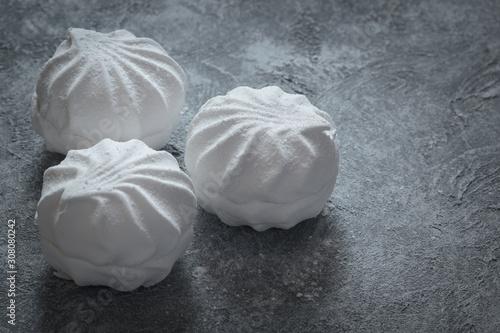 White zephyr or zefir sweet cakes Wallpaper Mural