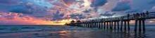 Coastal Dreams. Pier Naples, Florida. Travel Concept