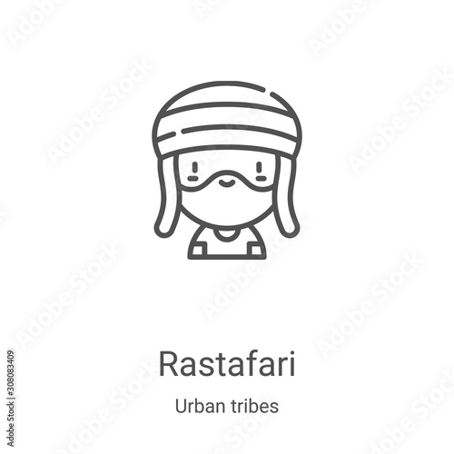 Fototapeta  rastafari icon vector from urban tribes collection
