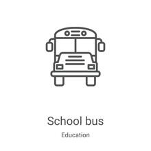 School Bus Icon Vector From Ed...