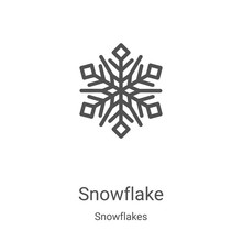 Snowflake Icon Vector From Sno...