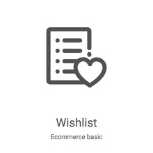 Wishlist Icon Vector From Ecom...