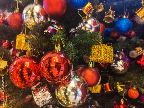 Fototapety, obrazy: Christmas Tree Ornaments